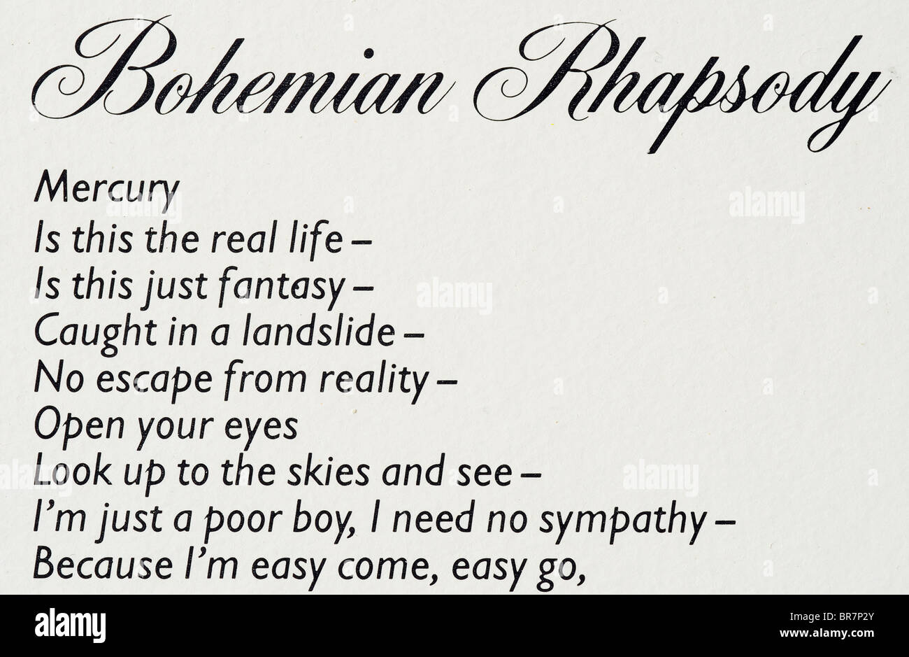 歌詞 bohemian rhapsody
