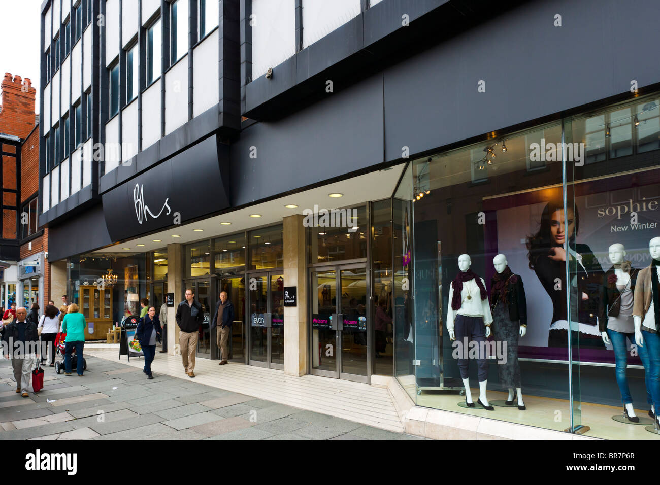 BHS store in Chester town centre, Cheshire, England, UK - Stock Image