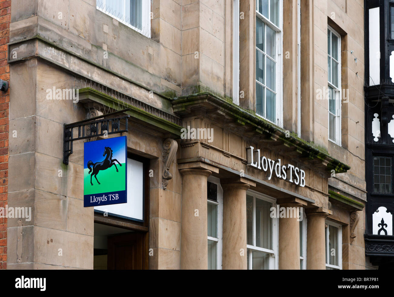 Lloyds TSB bank in Chester town centre, Cheshire, England, UK - Stock Image