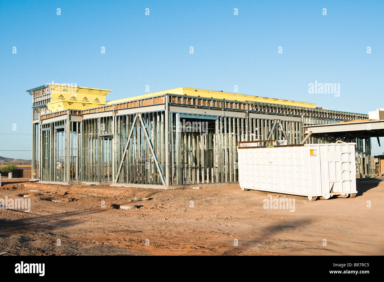 Structural Steel Construction - Stock Image