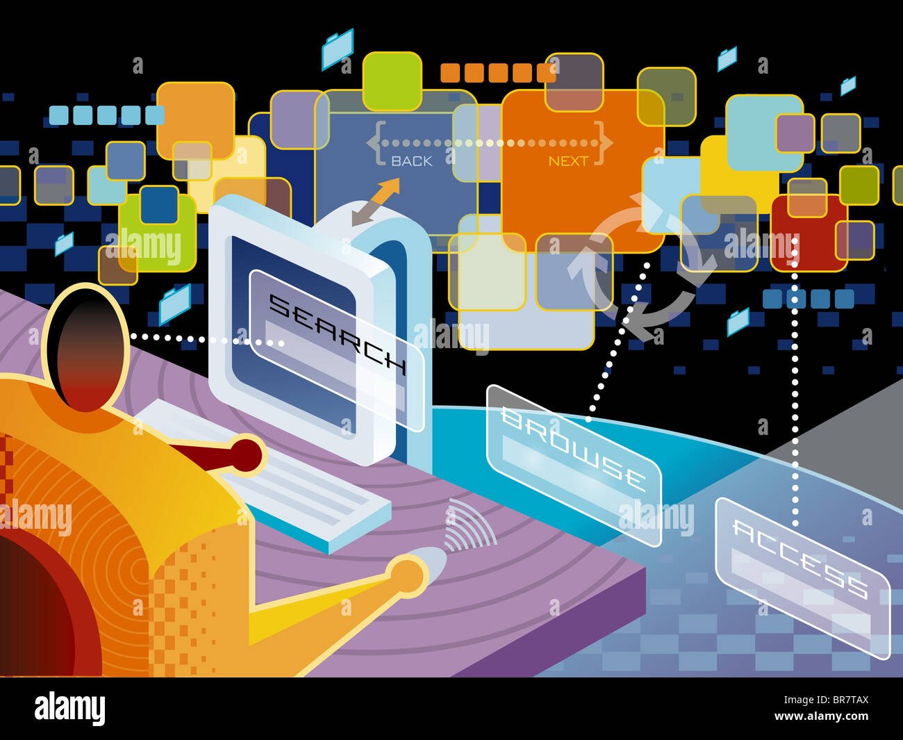 A Man Using Web Browser Stock Photo 31520242 Alamy What Is Diagram