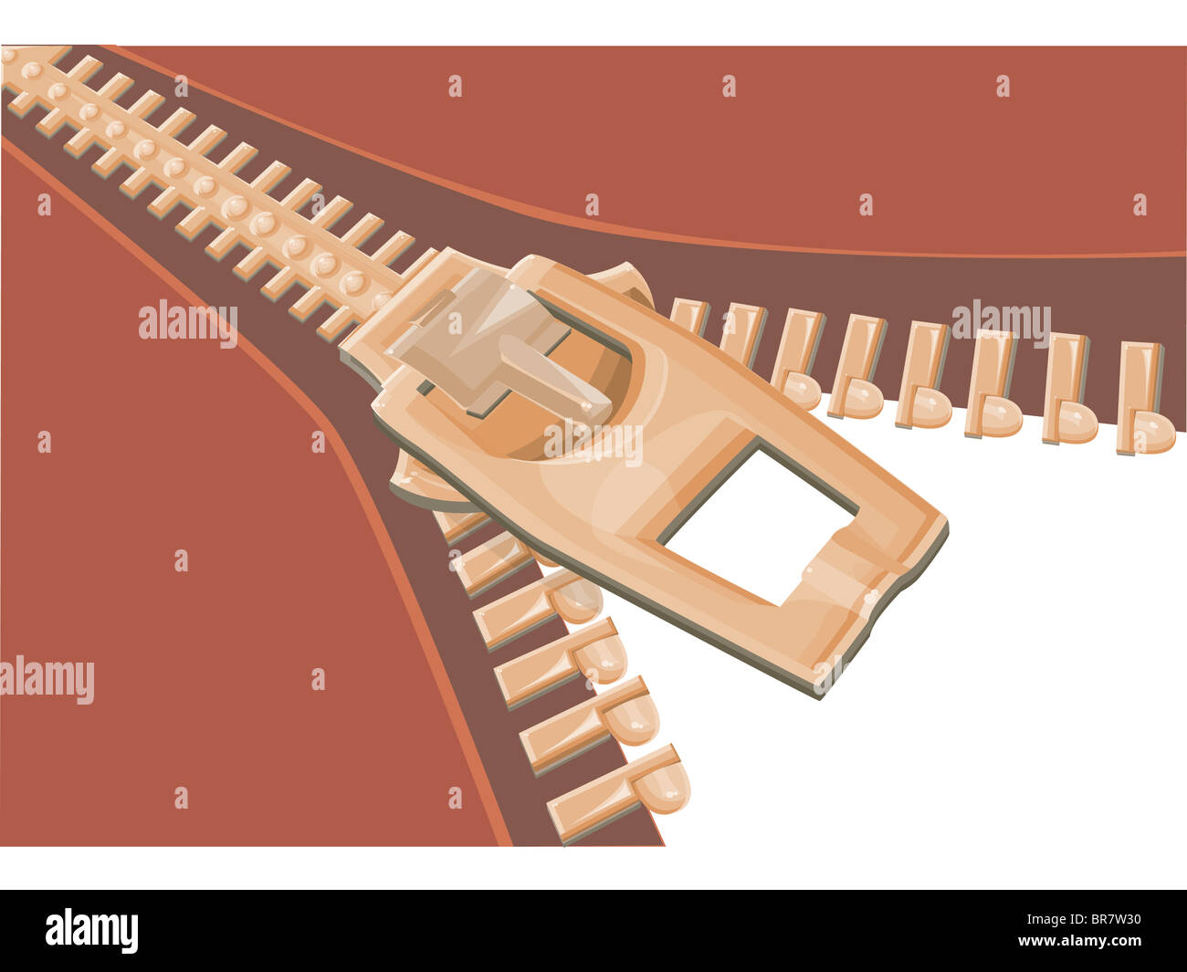 Illustration of a zipper - Stock Image