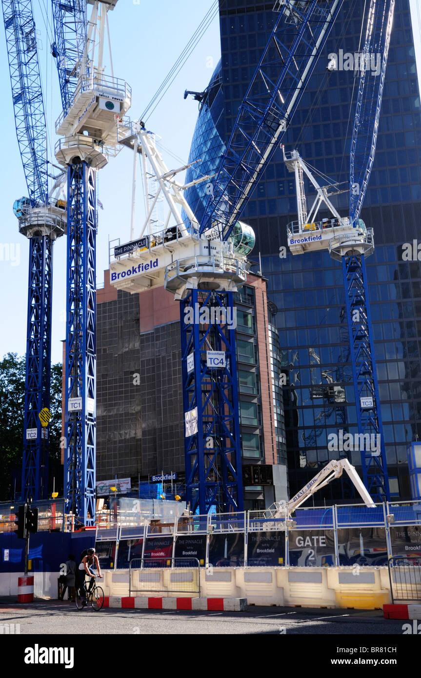 The London Pinnacle skyscraper construction site, Bishopsgate, London, England, UK - Stock Image