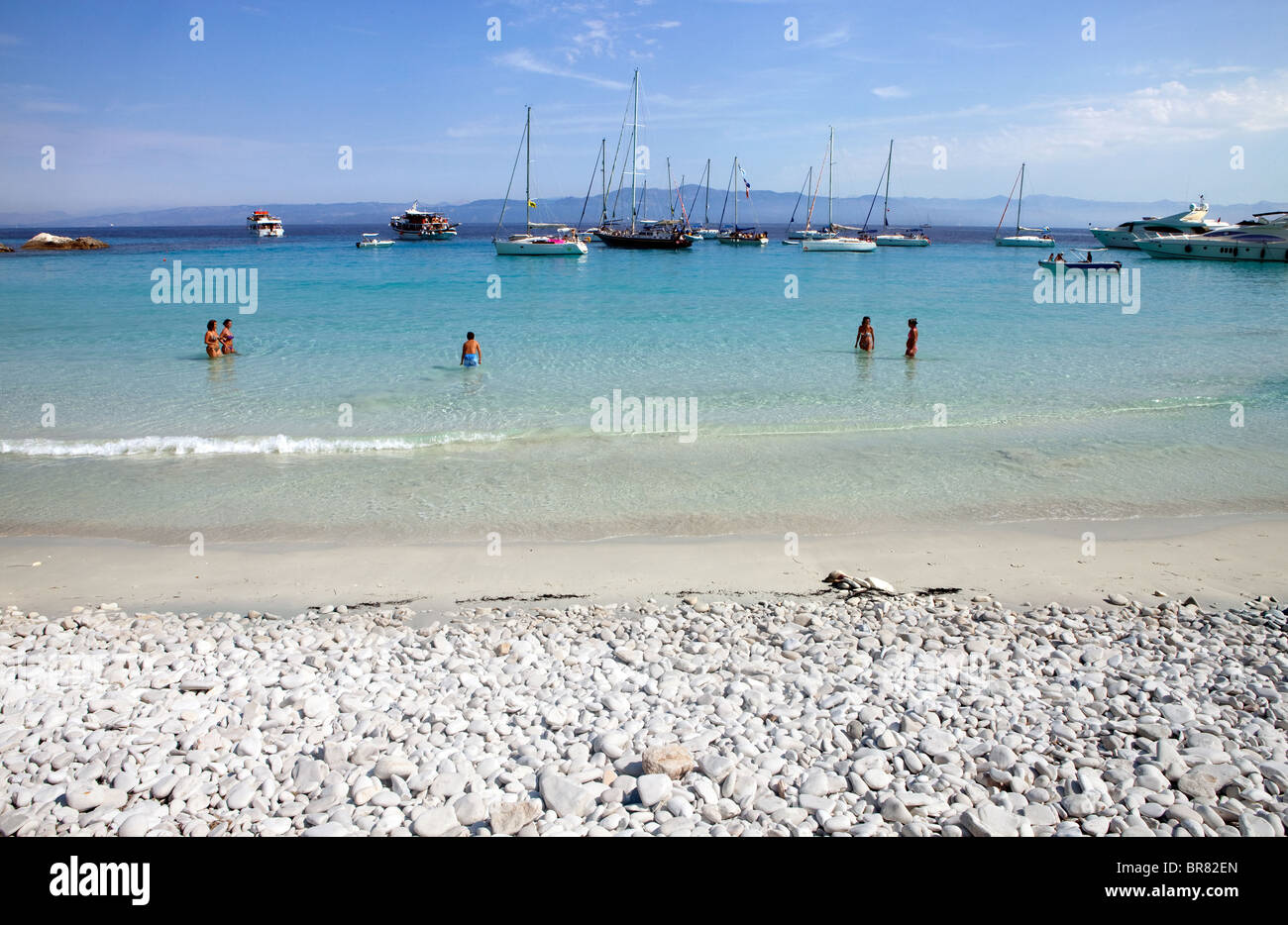 Voutoumi Beach, Antipaxos, Greece - Stock Image