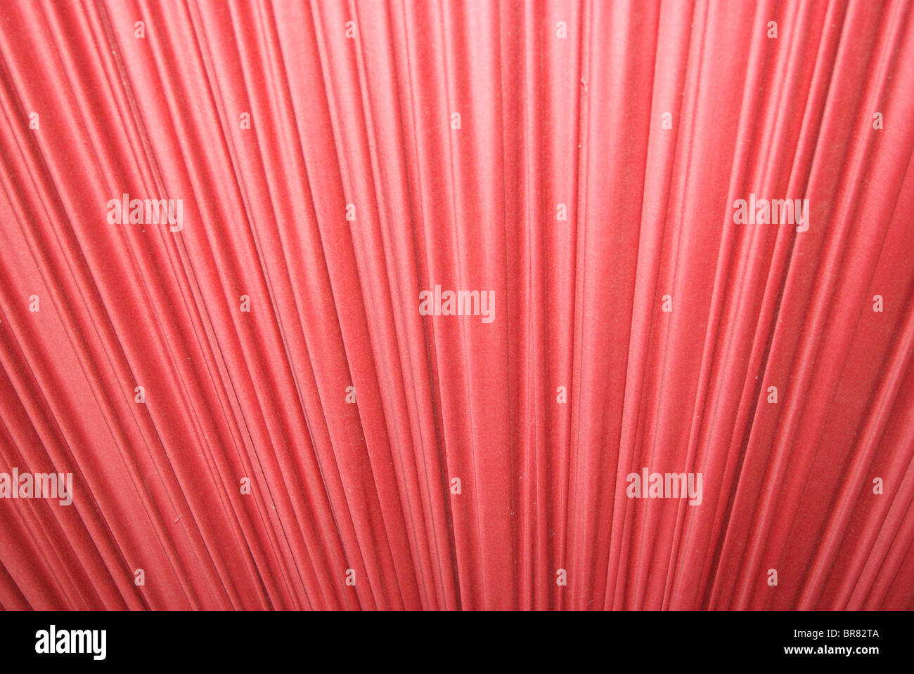 Red Pleated Fabric - Stock Image