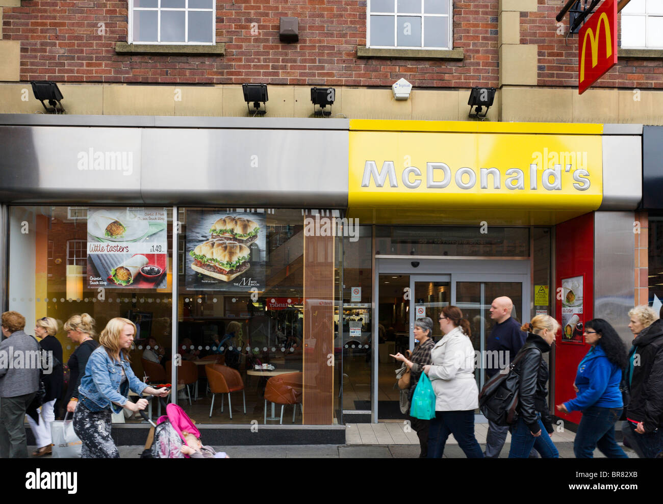 McDonald's restaurant in Chester town centre, Cheshire, England, UK - Stock Image