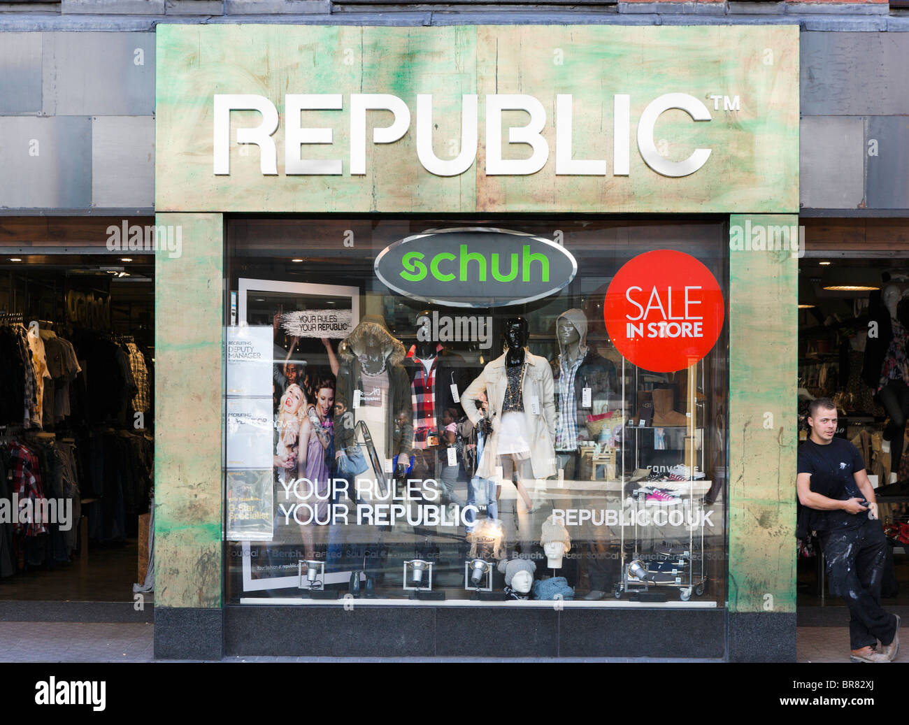 Republic store in Chester town centre, Cheshire, England, UK - Stock Image