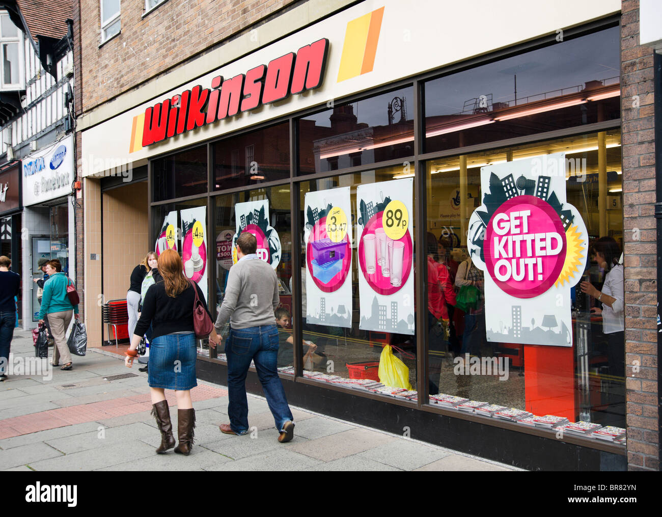 Wilkinson discount store in Chester town centre, Cheshire, England, UK - Stock Image