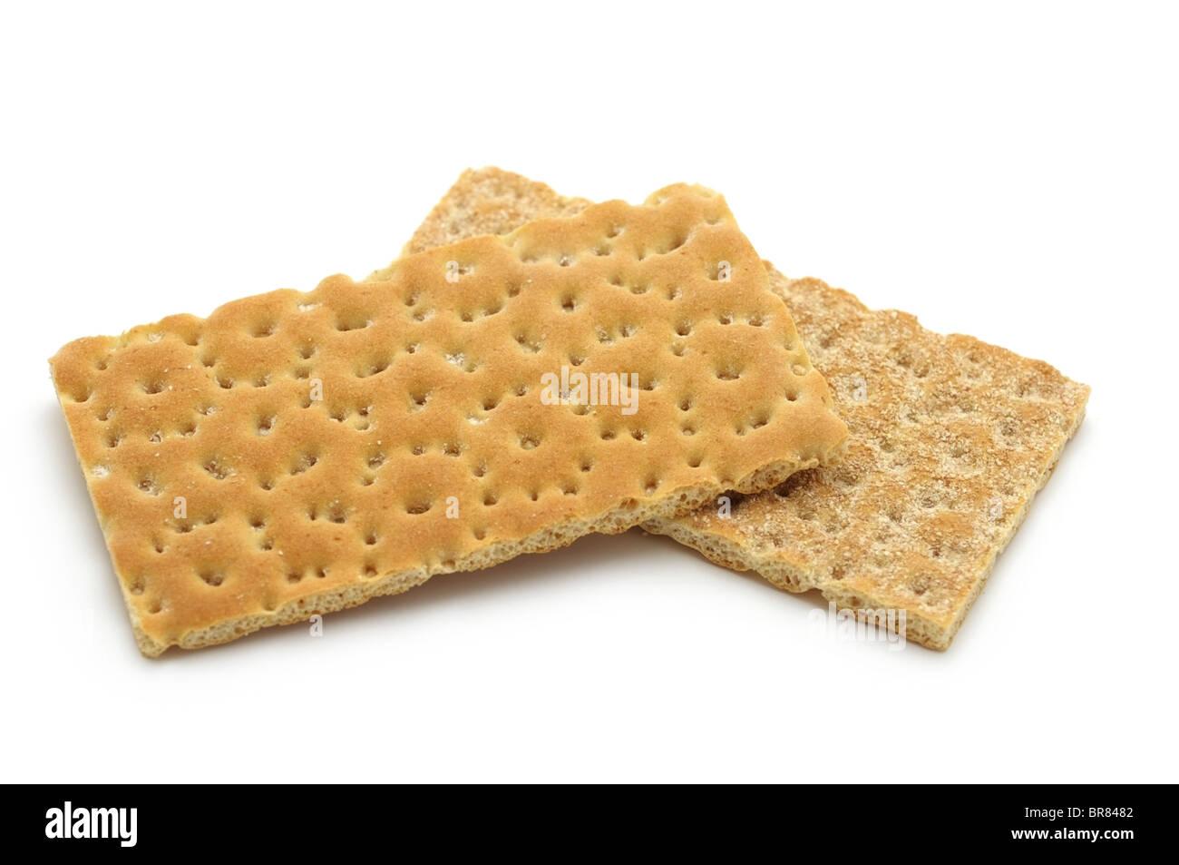 Whole Wheat Crispbread - Stock Image