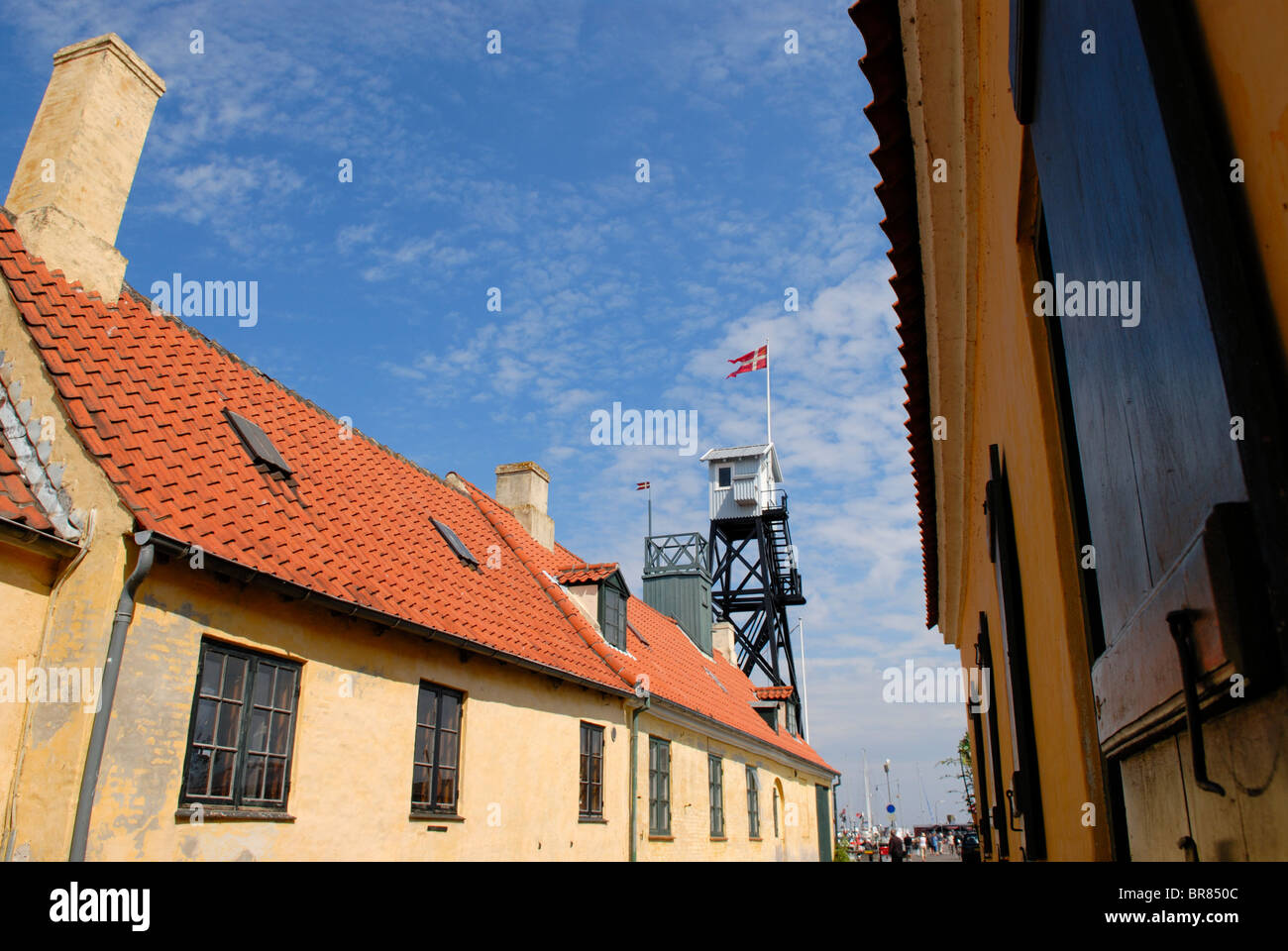 COSY DANISH VILLAGE - Stock Image