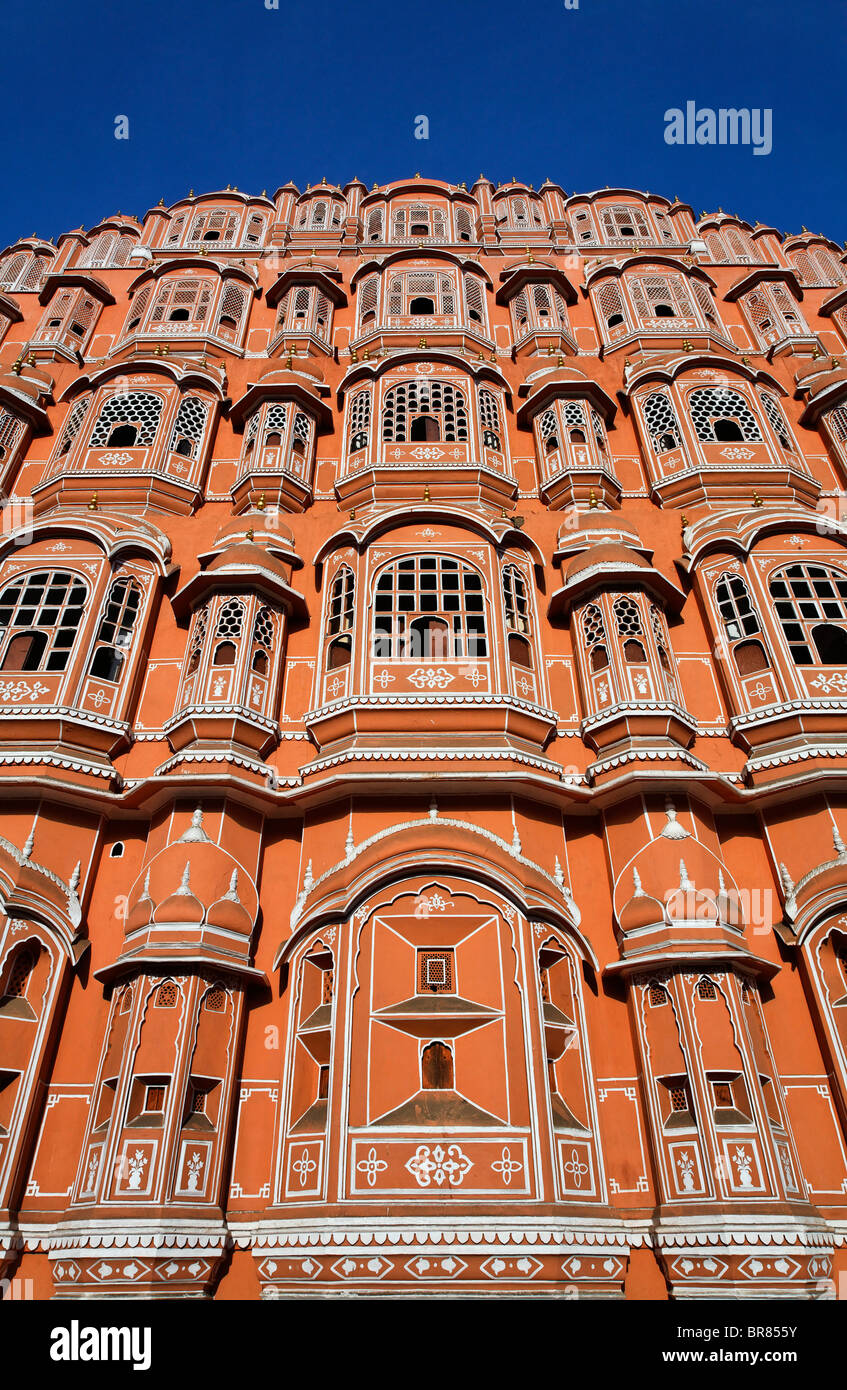 The Palace of the Winds, Jaipur, Rajasthan, India - Stock Image