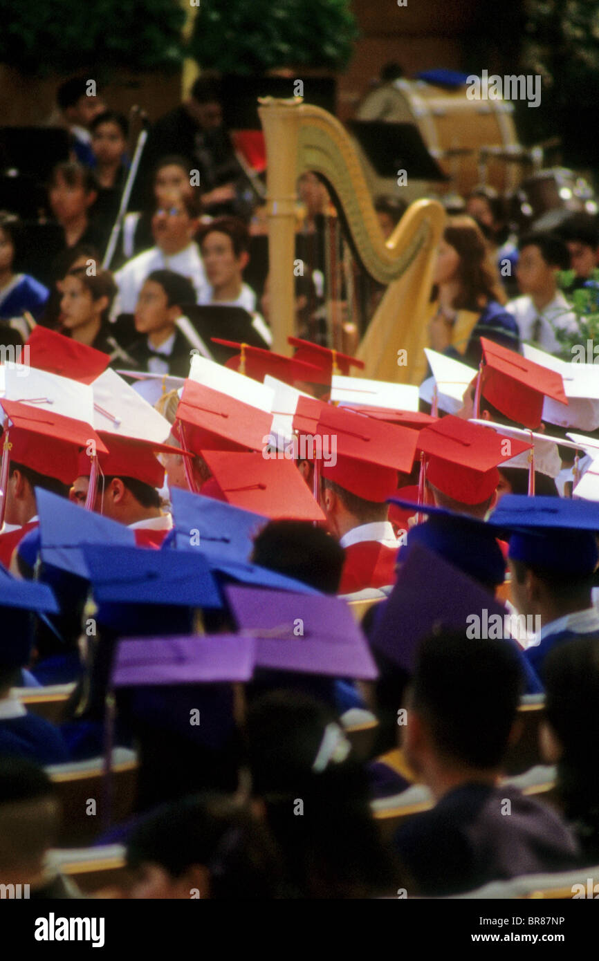 graduation baccalaureate cap gown ceremony music orchestra student ...