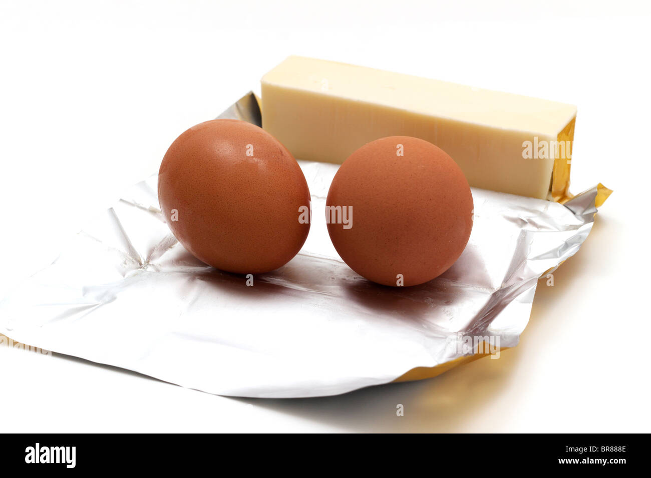 Butter and eggs Stock Photo