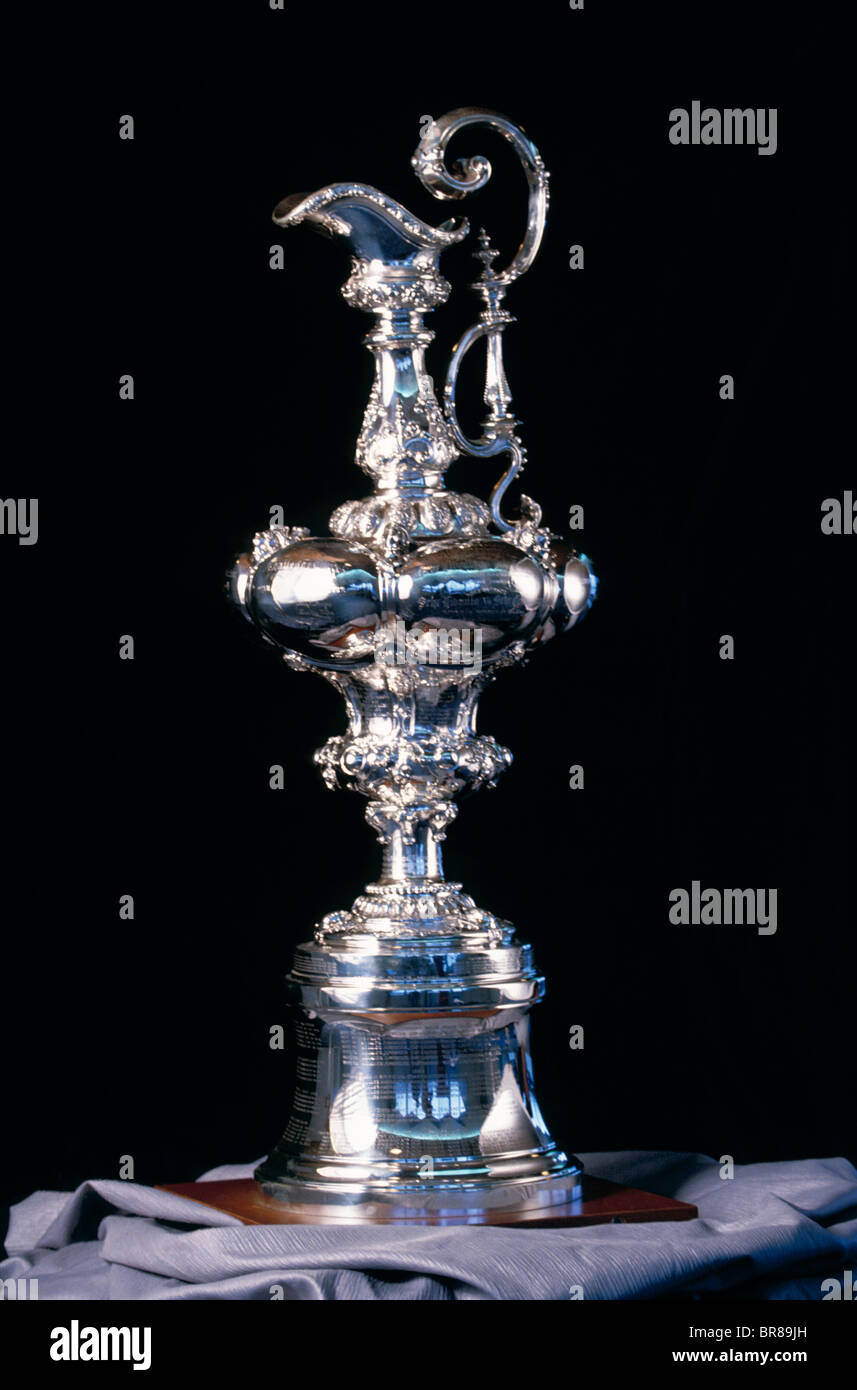 The America's Cup trophy. - Stock Image