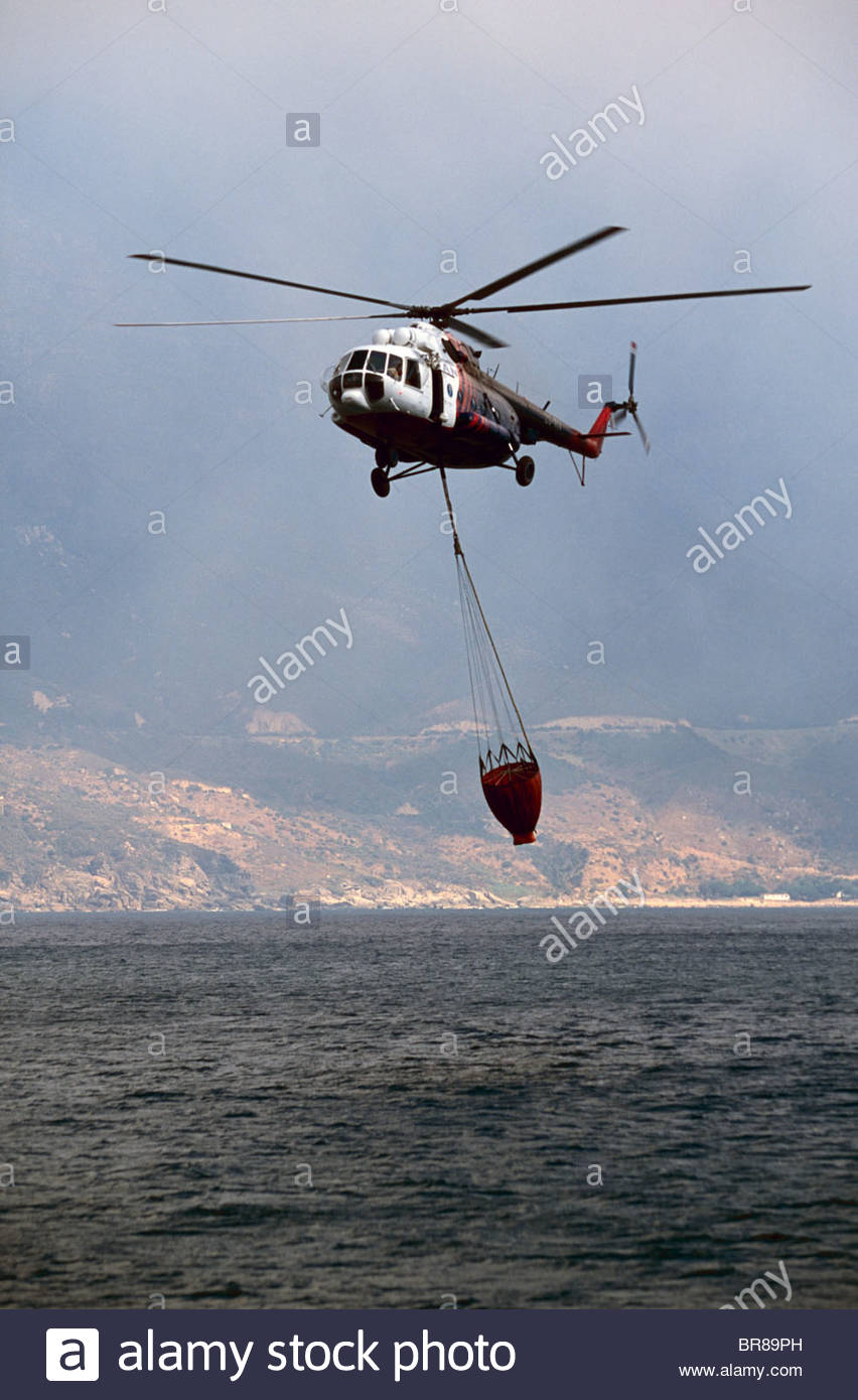 Helicopter operations off Cape Peninsula, South Africa. November 2002 - Stock Image