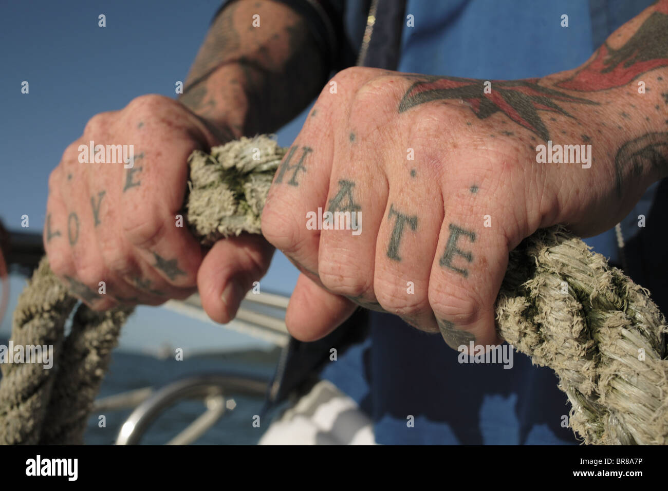 Sailor Tattoos In Coral Sea Cairns Australia Stock Photo