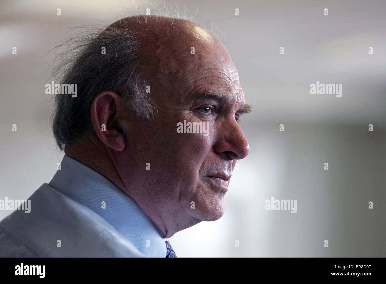 Vince Cable Liberal Democrat MP for Twickenham and Business Secretary in the Conservative–Liberal Democrat coalition - Stock Image