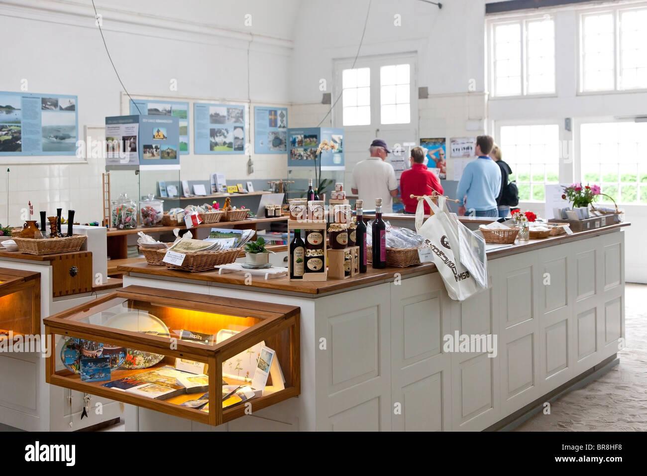 Inside the Welcome Centre at Tranbjerg Samsoe Denmark - Stock Image