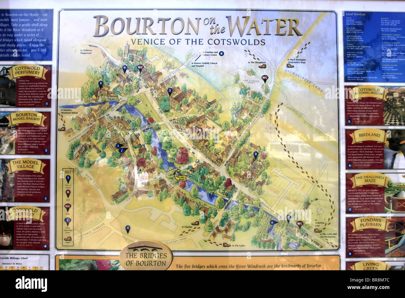 Bourton On The Water Map A colorful map of the little town of Bourton On The Water, Venice  Bourton On The Water Map