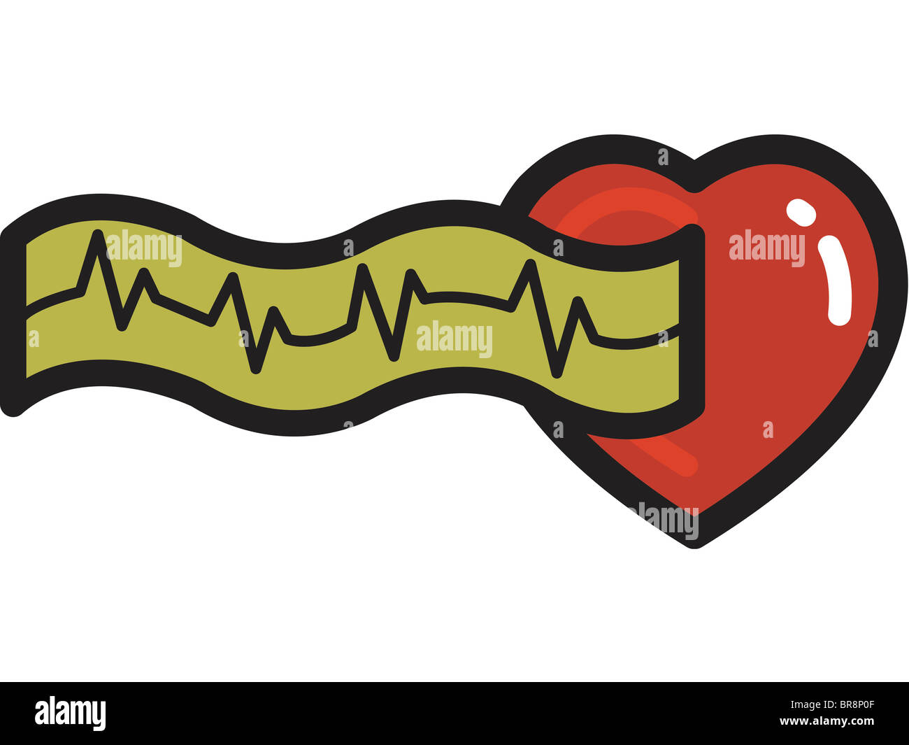 Illustration of electrocardiogram - Stock Image
