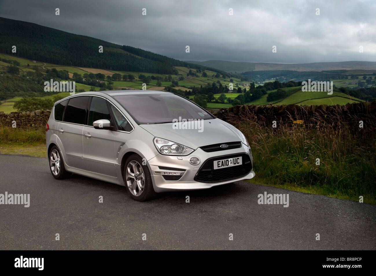 Ford S Max in the Dales region of Yorkshire England UK - Stock Image