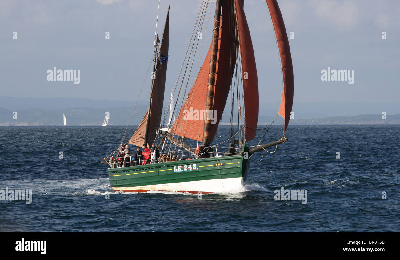 Swan, The Tall Ships Races 2010, Kristiansand - Stock Image