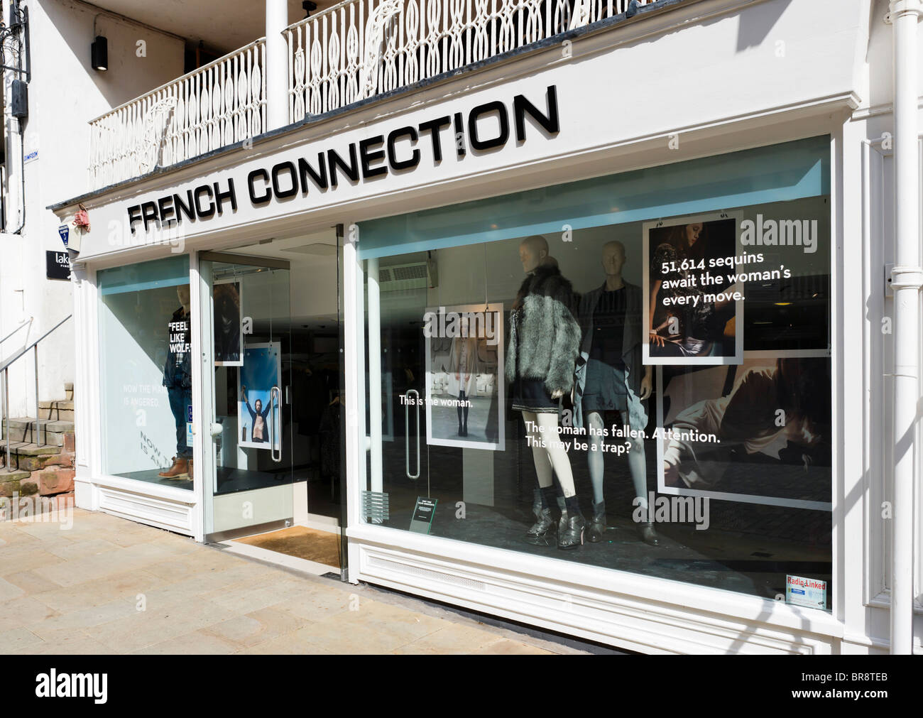 French Connection store in Chester town centre, Cheshire, England, UK - Stock Image