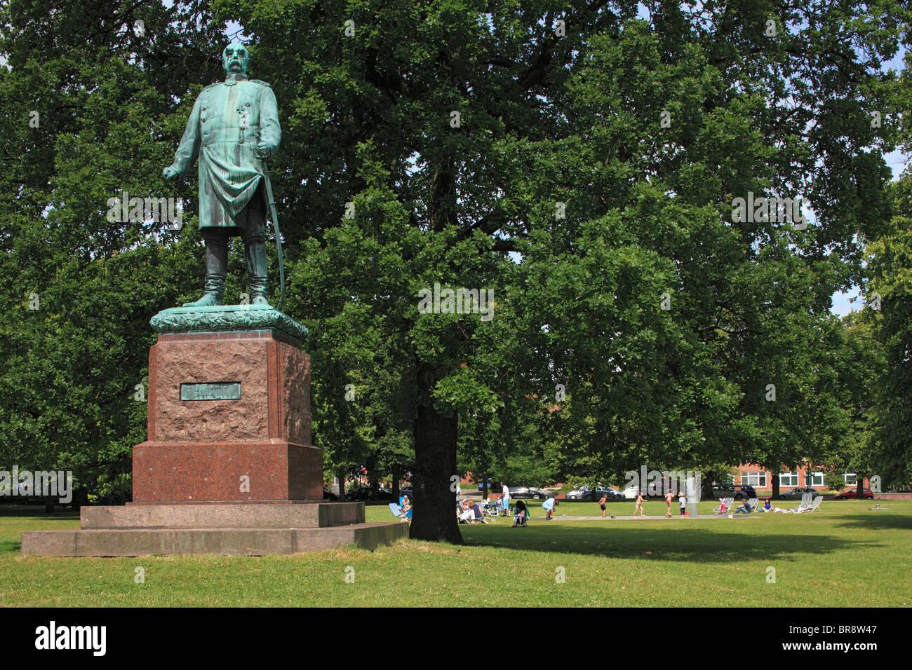 Bismarck-Denkmal von Harro Magnussen im Hiroshimapark von Kiel, Kieler Foerde, Ostsee, Schleswig-Holstein - Stock Image