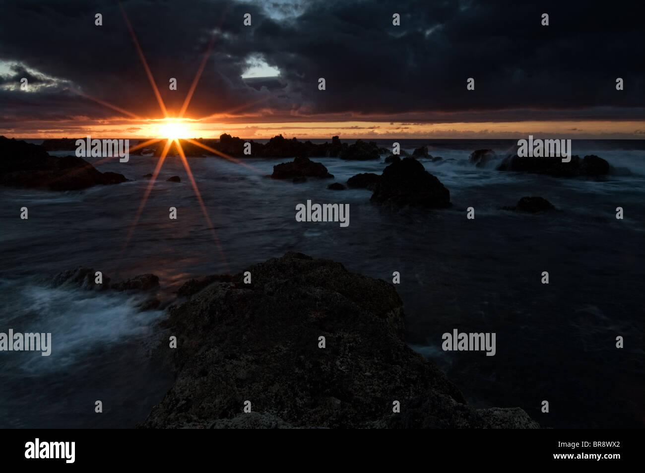 Sunset / sunrise by the sea Stock Photo