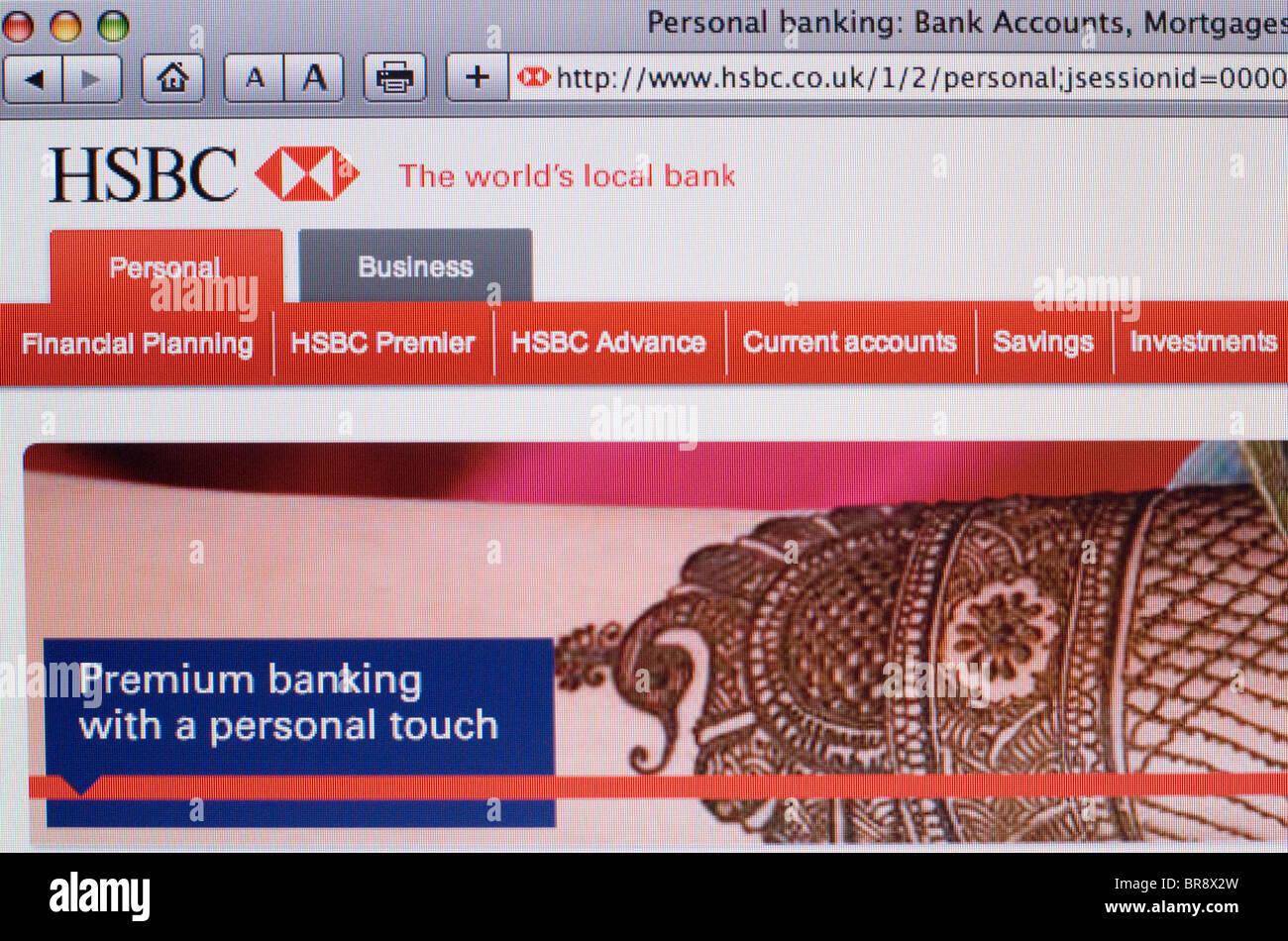 HSBC Bank website Screenshot Stock Photo: 31543537 - Alamy