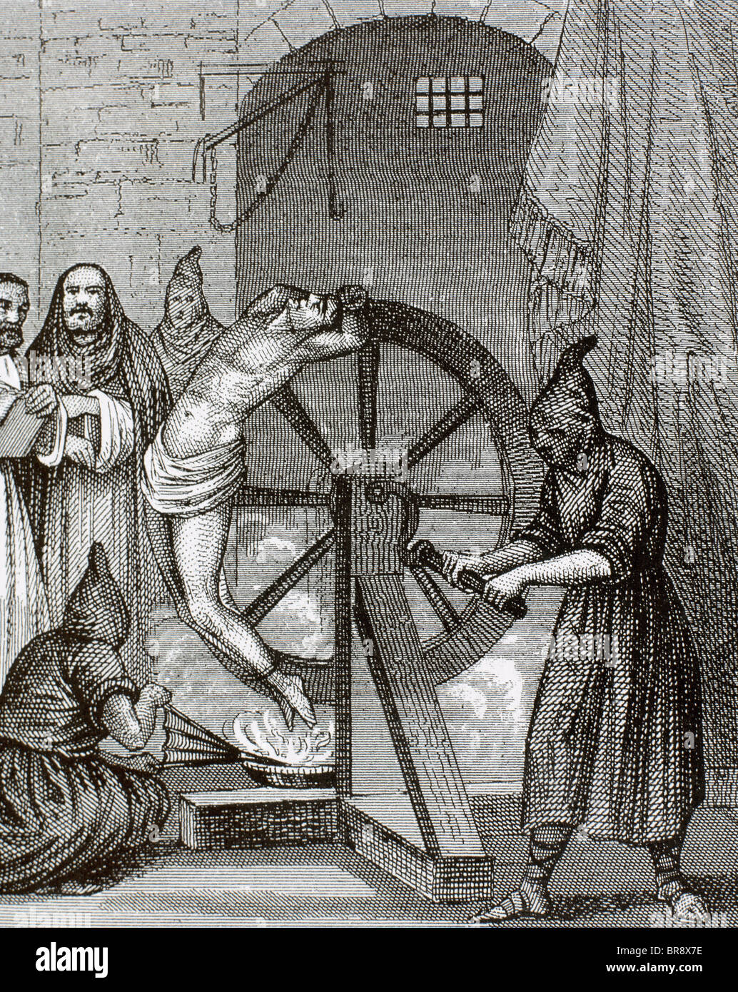 Inquisition. Instrument of torture. Wheel of Fortune. - Stock Image