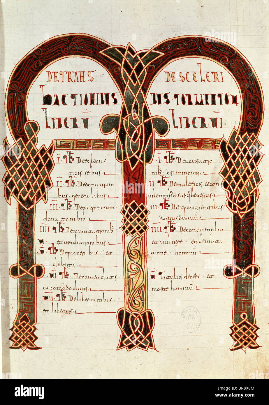 Code of Euric or Codex Euricianus. - Stock Image