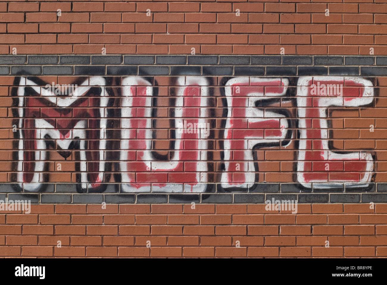 MUFC Graffiti - Stock Image
