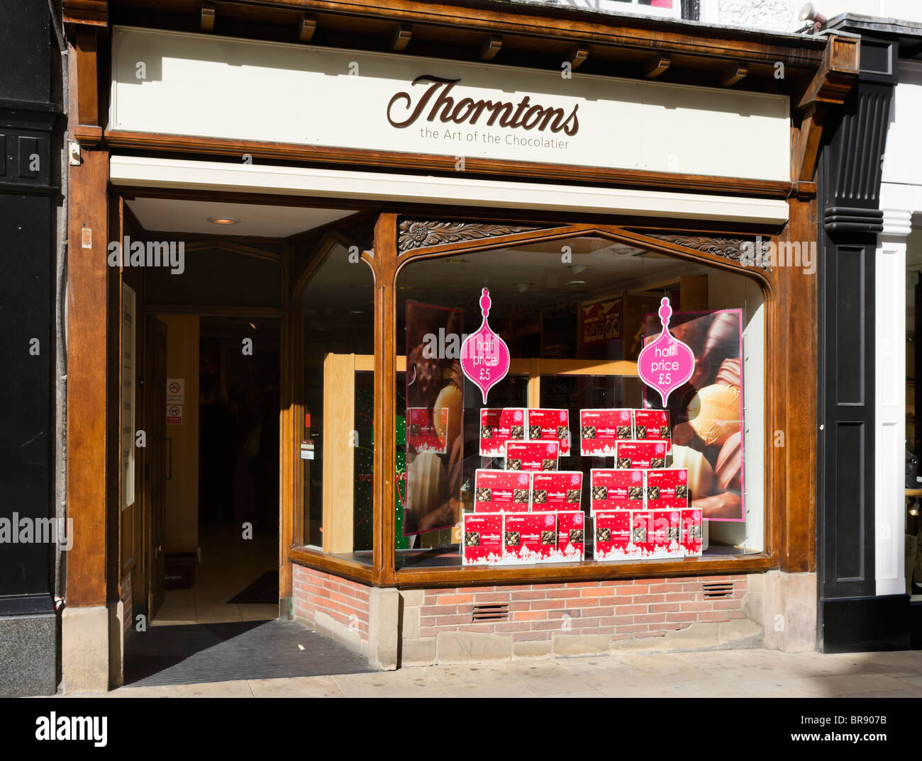 Thorntons chocolate shop in Chester town centre, Cheshire, England, UK - Stock Image