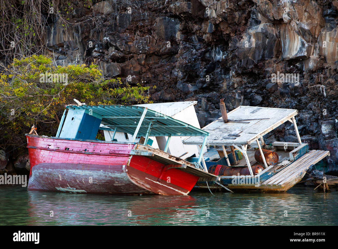 Shipwrecks On The Rocks - Stock Image