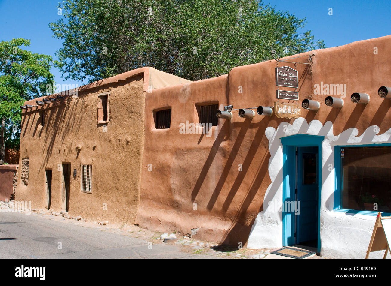 Oldest house in America Santa Fe New Mexico Stock Photo