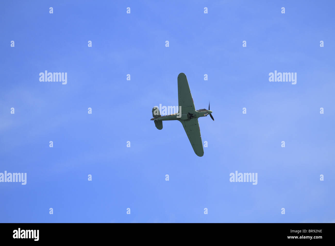 A Hawker Hurricane LF363 (Mk IIc), part of the Battle of Britain Memorial Flight, at Eastbourne Air Show, Sussex, - Stock Image