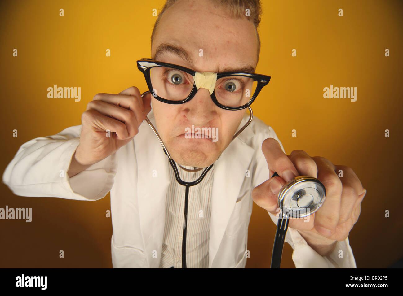 A Funny Doctor; Edmonton, Alberta, Canada - Stock Image