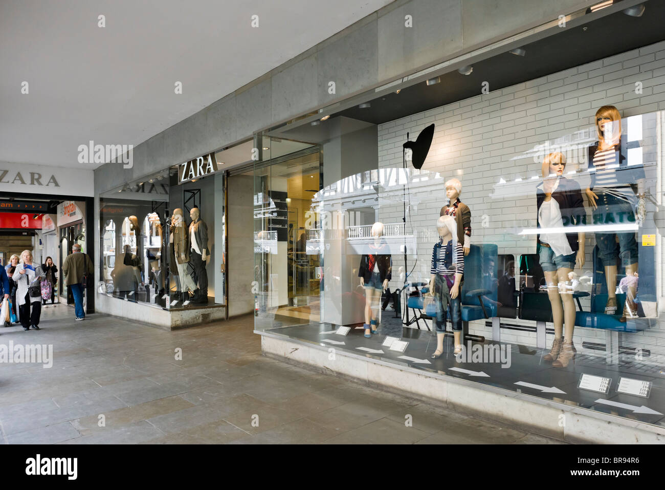 Zara store in Chester town centre, Cheshire, England, UK - Stock Image