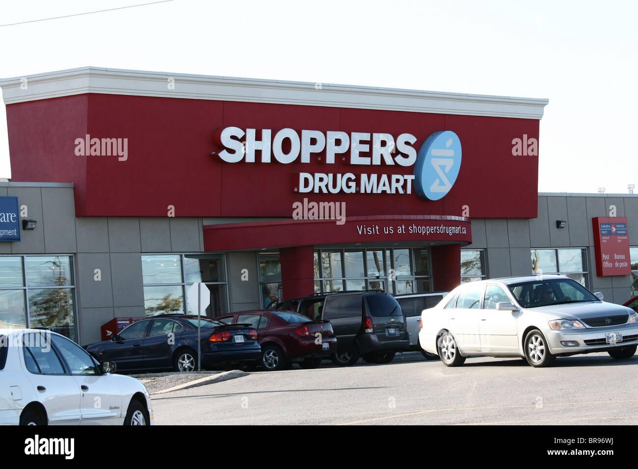 shoppers drugmart drugstore pharmacy Canada Stock Photo