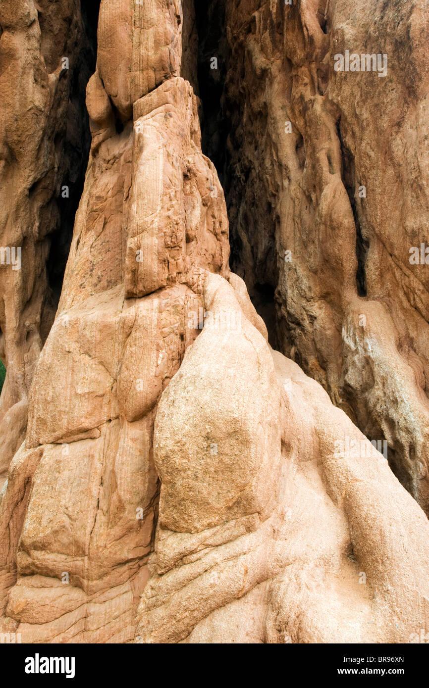 Rock Formation at the Garden of the Gods - Colorado Springs, Colorado USA - Stock Image