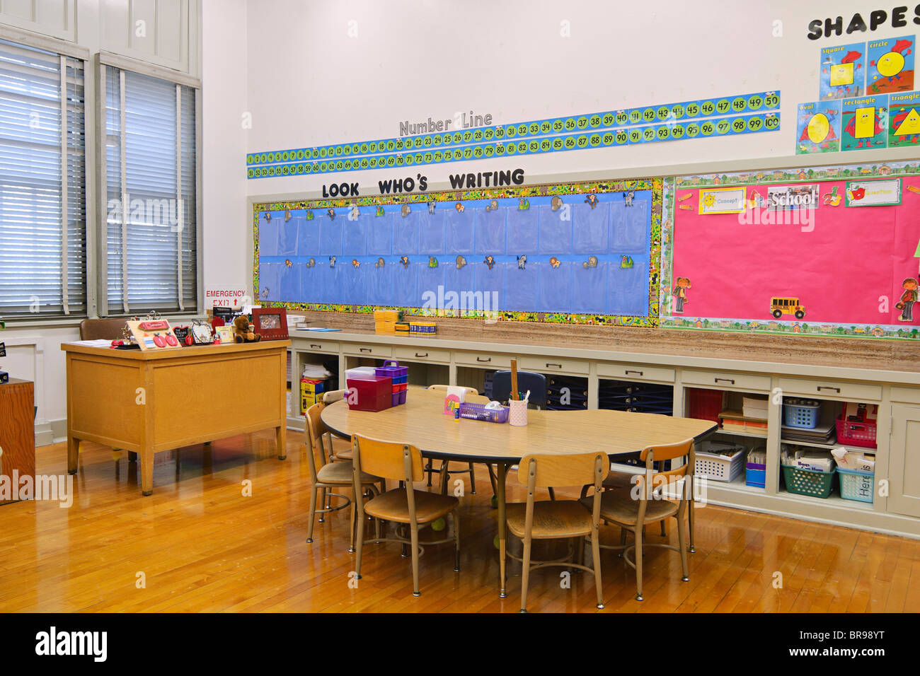 Kindergarten and First Grade classroom. - Stock Image