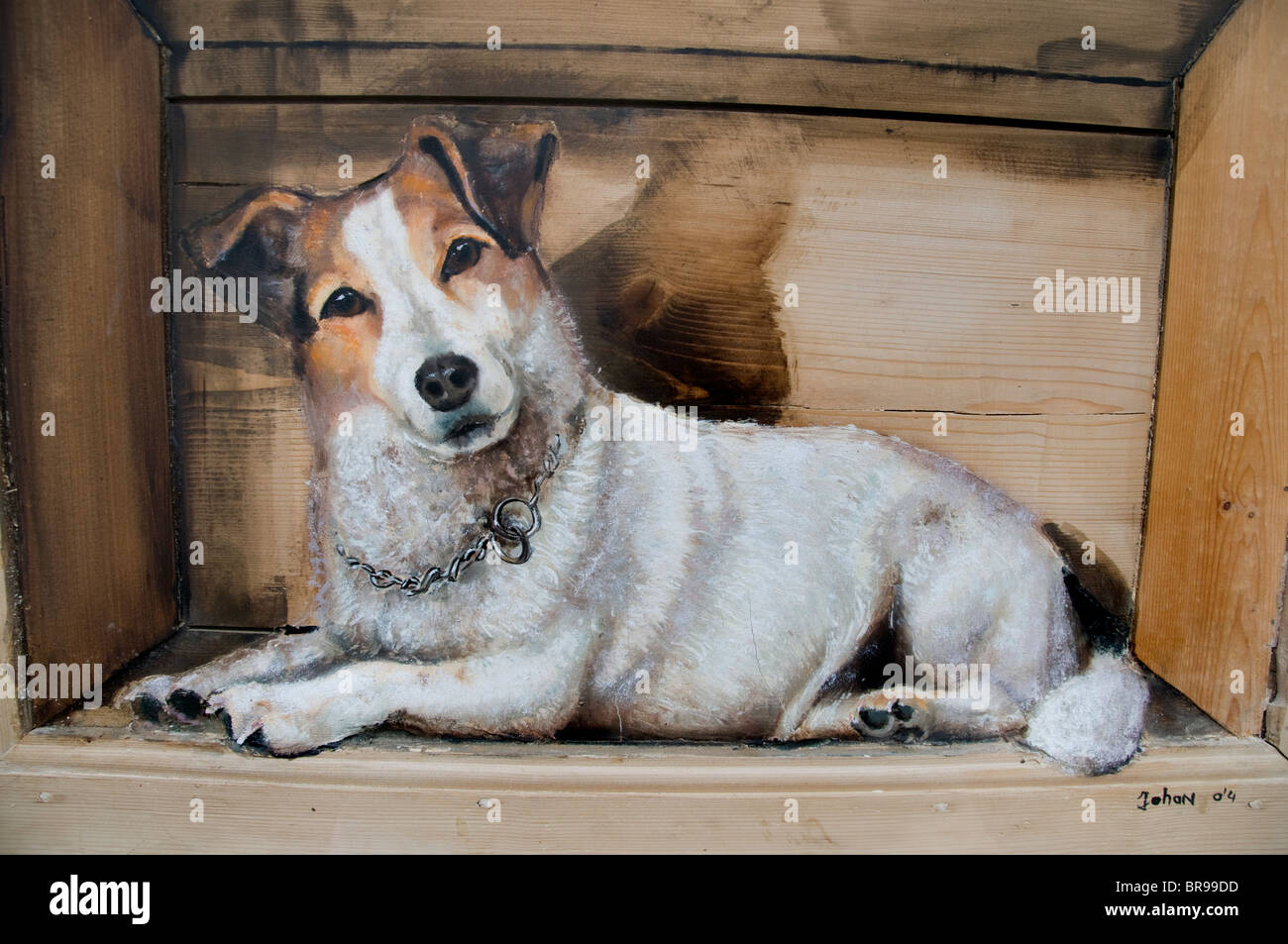 Netherlands Painting Little Small Dog Gallery Stock Photo Alamy