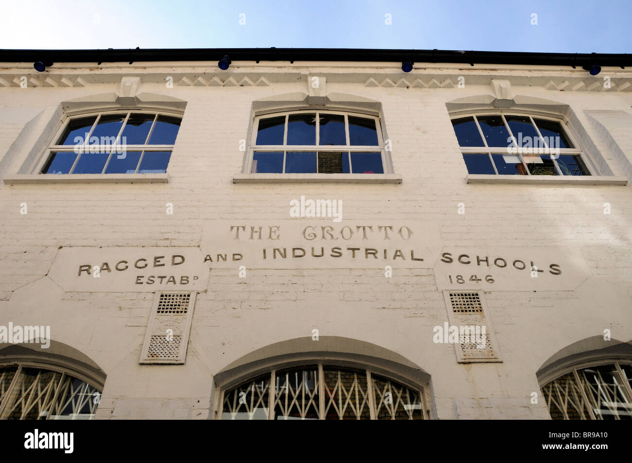 The Grotto Ragged and Industrial Schools Marylebone London England UK - Stock Image