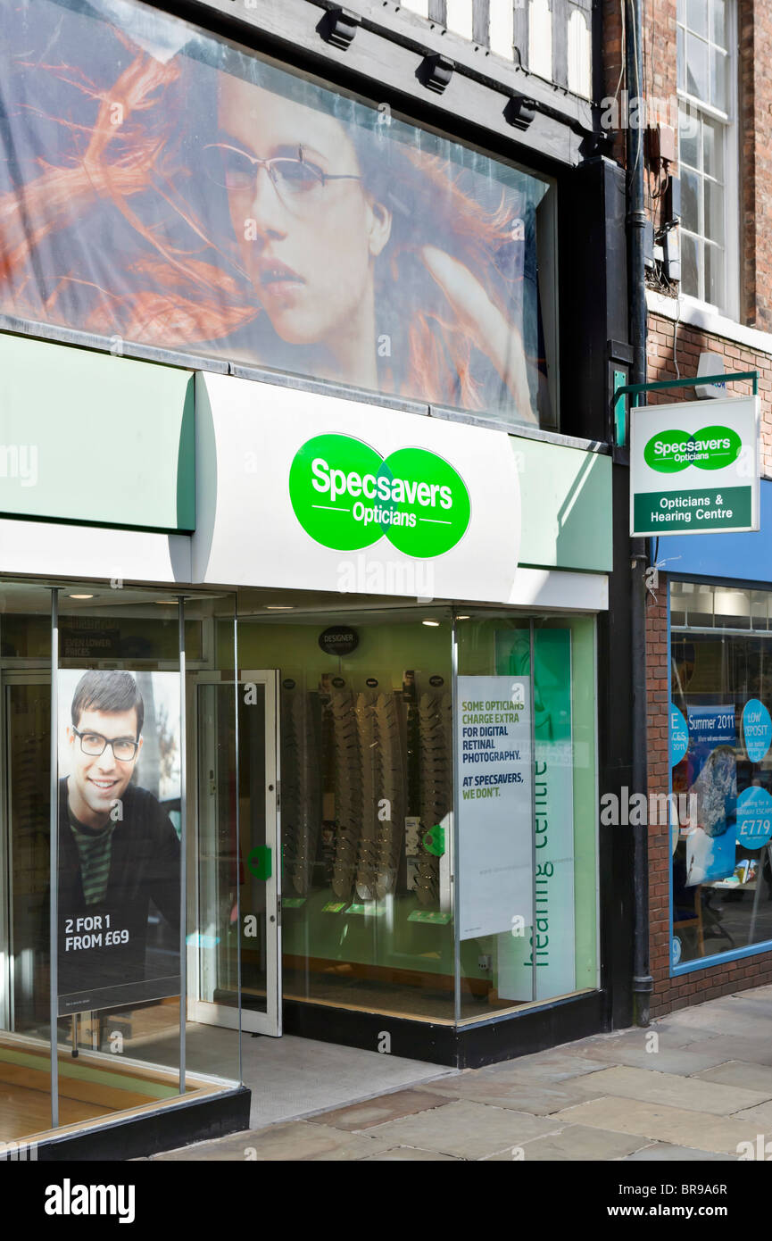 Specsavers optician in Chester town centre, Cheshire, England, UK - Stock Image