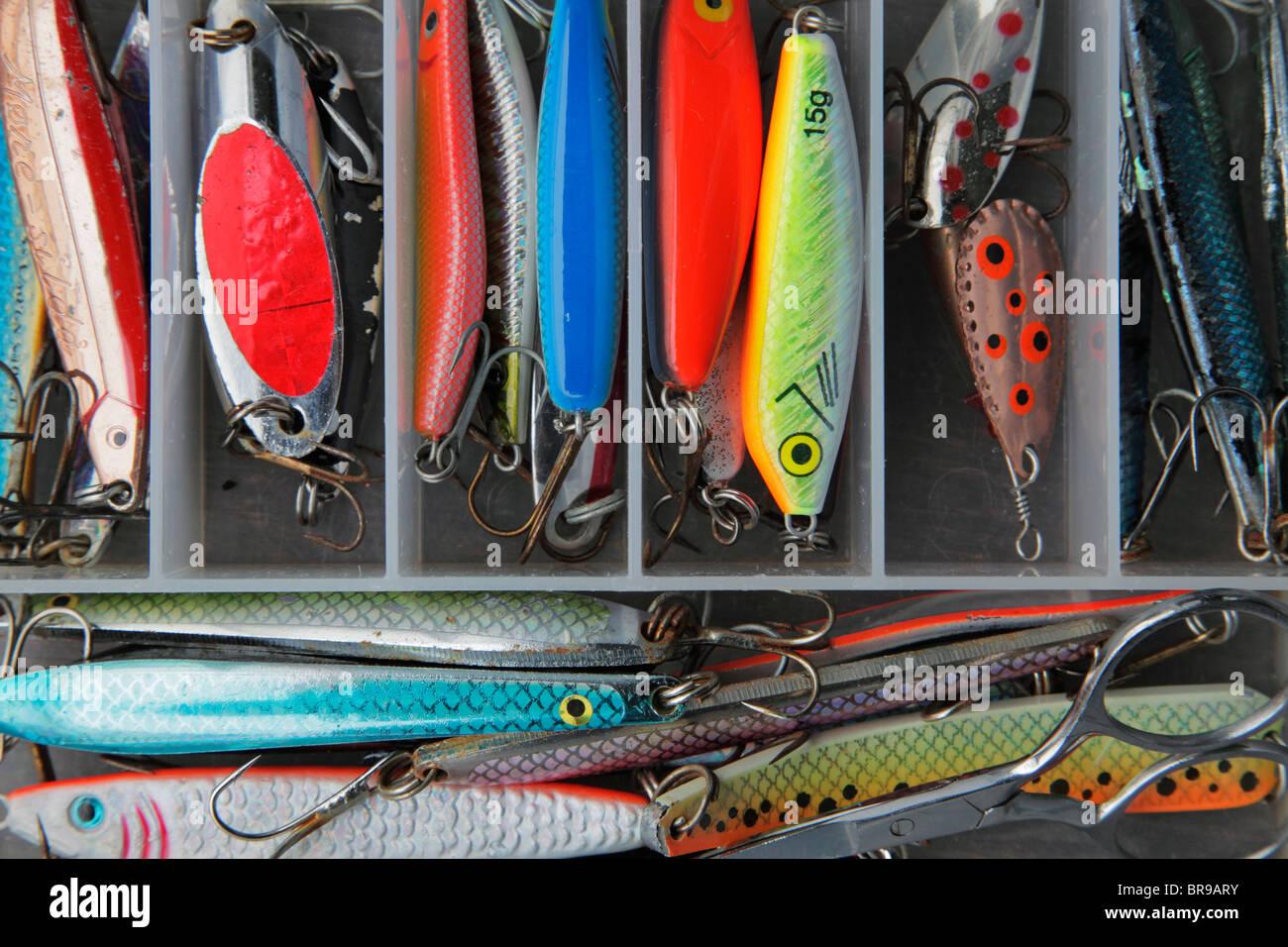 fish bait box - Stock Image