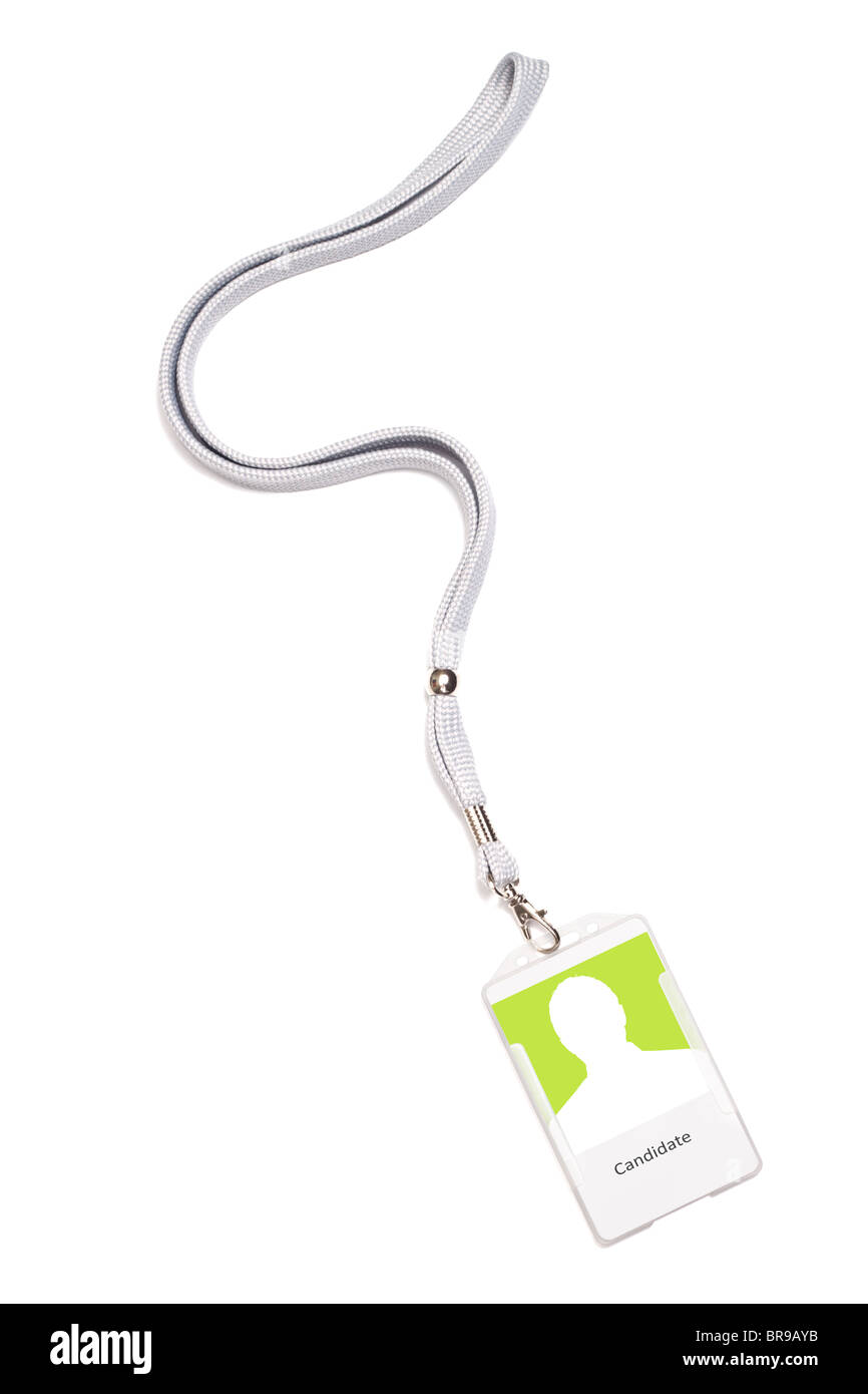Male silhouette ID tag - Stock Image