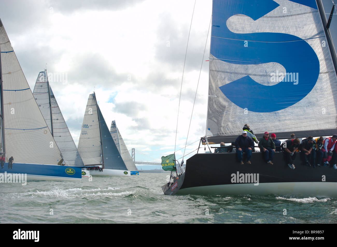 patches, winner of race 6 and #2 overall, pulls ahead of its irc a competitors Stock Photo