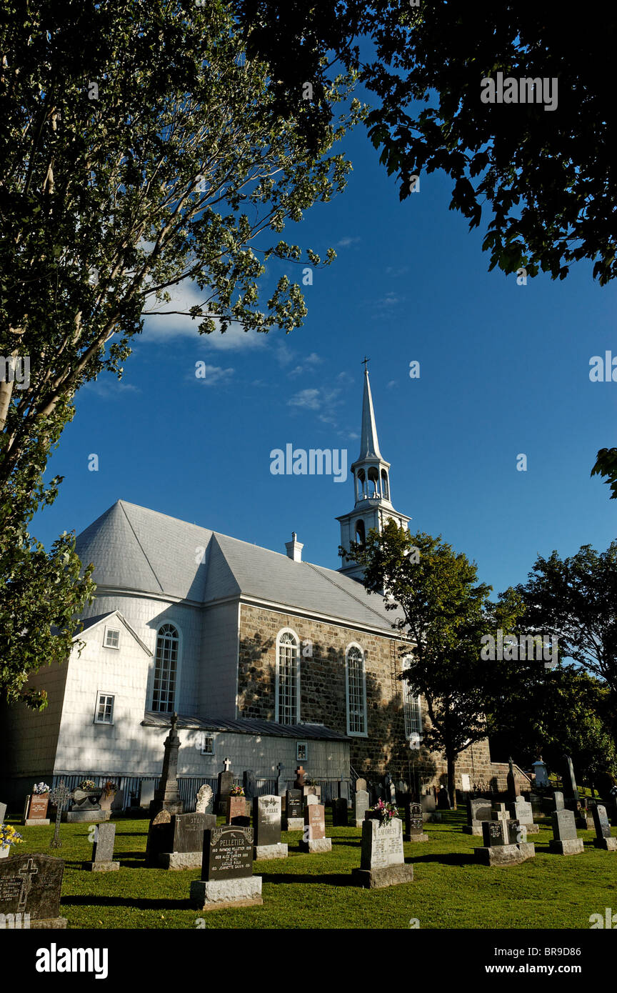 The church at Notre Dame de Portage in Quebec - Stock Image