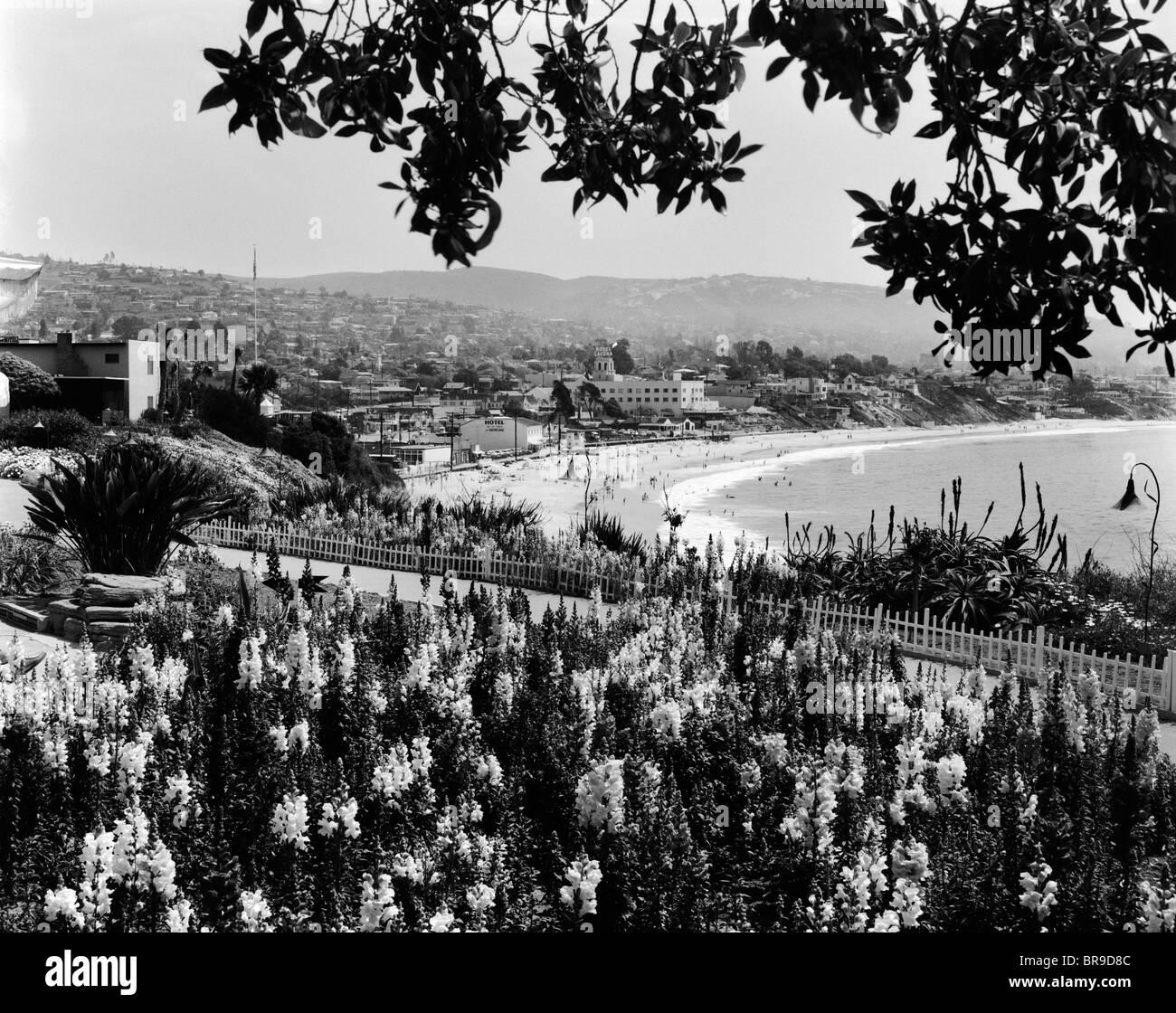 1930s 1940s SCENIC LAGUNA BEACH CALIFORNIA Stock Photo